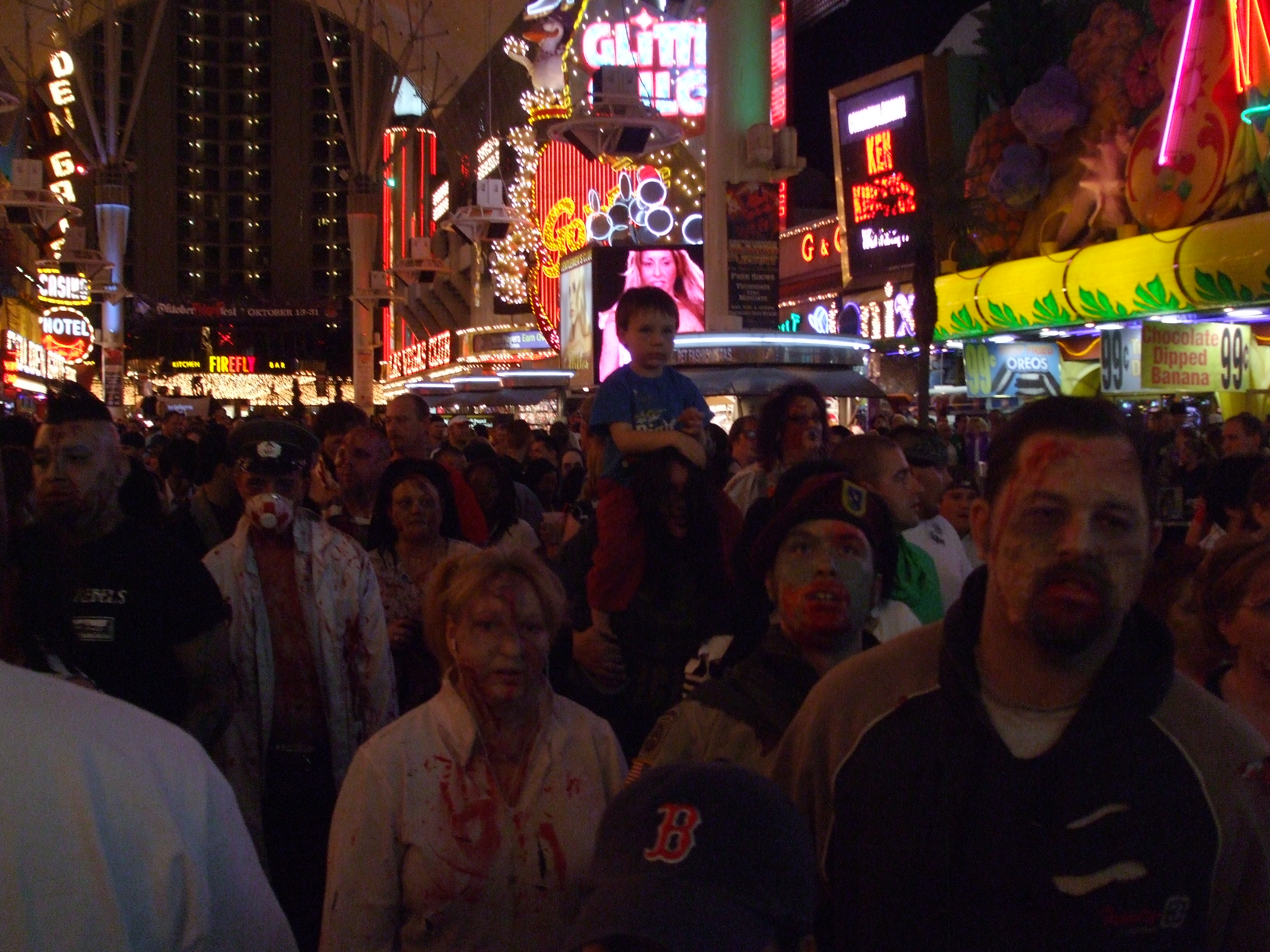 A Zombie hoard attacks Fremont St