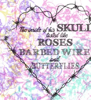 barbwire Valentine's cards
