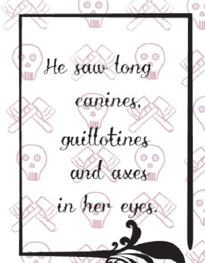 guillotines Valentine's card